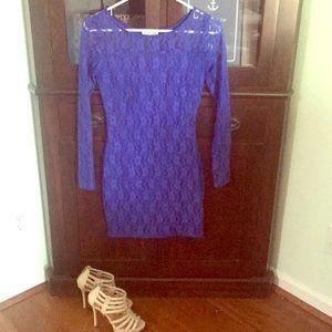 Royal blue laced dress! 💙